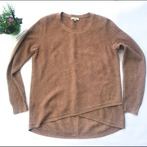 Madewell sweater top Textured large brown